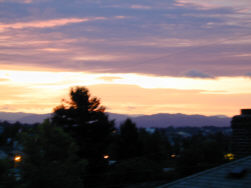 Sunrise over North Seattle