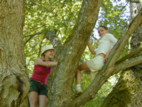 Nae and Ryn in the trees